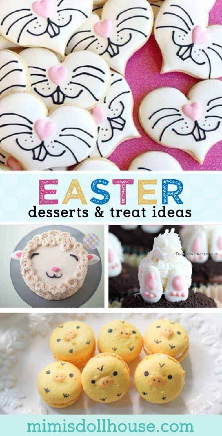 Easter: Easter Desserts and Easy Easter Treat Ideas. The best part of Easter celebrations?  The delicious Easter Treats of course.  Keep reading...I have some super cute and yummy Easter dessert ideas to share. Be sure to check out all our Easter Party Ideas and Inspiration. #easter #party #parties #holiday #baking #bunny #treats #desserts #diy #easterparty #cookies