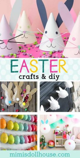 Easter Craft Ideas: Easter Egg Crafts, Easter Bunny Crafts & More!  Get into the Easter spirit with some fun and festive Easter Crafts!  Whether you want to make Easter egg crafts or create cute little Easter bunny crafts...these ideas are sure to inspire!! #easter #easteregg #easterbunny #crafts #diy #holiday #homedecor #party #partyideas #parties #kids