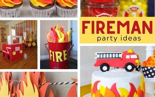 Firetruck Birthday Party Ideas + Desserts