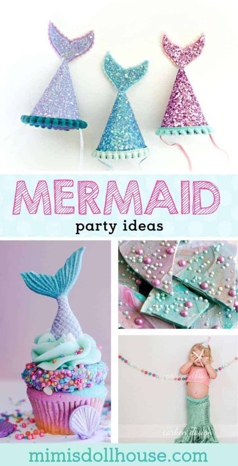 Mermaid Birthday Party: Mermaid Party Ideas.  Styling a beautiful under the sea birthday or gorgeous mermaid birthday party?  You need some easy and glorious mermaid party ideas and dessert inspiration!!