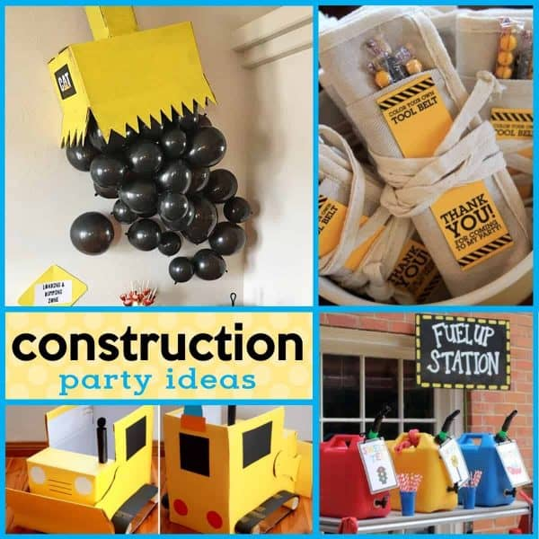 Looking for some awesome construction party ideas? This post is full of creative and easy construction party ideas, construction birthday party decorations, construction party favors and more!