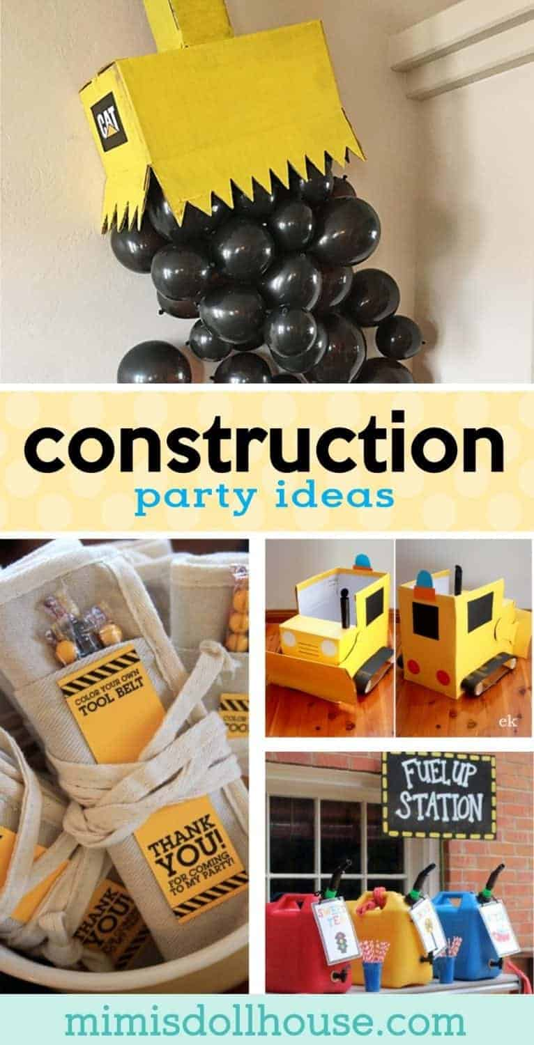 Looking for some awesome construction party ideas? This post is full of creative and easy construction party ideas, construction birthday party decorations, construction party favors and more! #constructionparty #birthdayparty #diy #partyideas