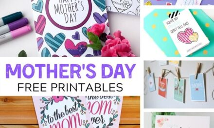 FREE Mother's Day Printables + Cards for Mom