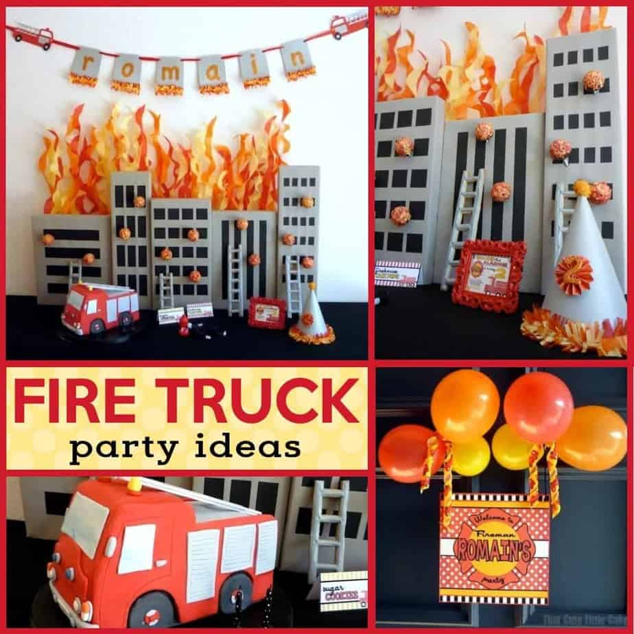 94 Firefighter Birthday Candles Party Decoration Set