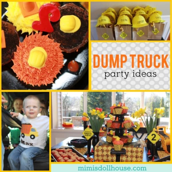 dump truck birthday party with fun decor