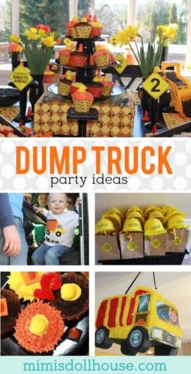ideas for a dump truck birthday