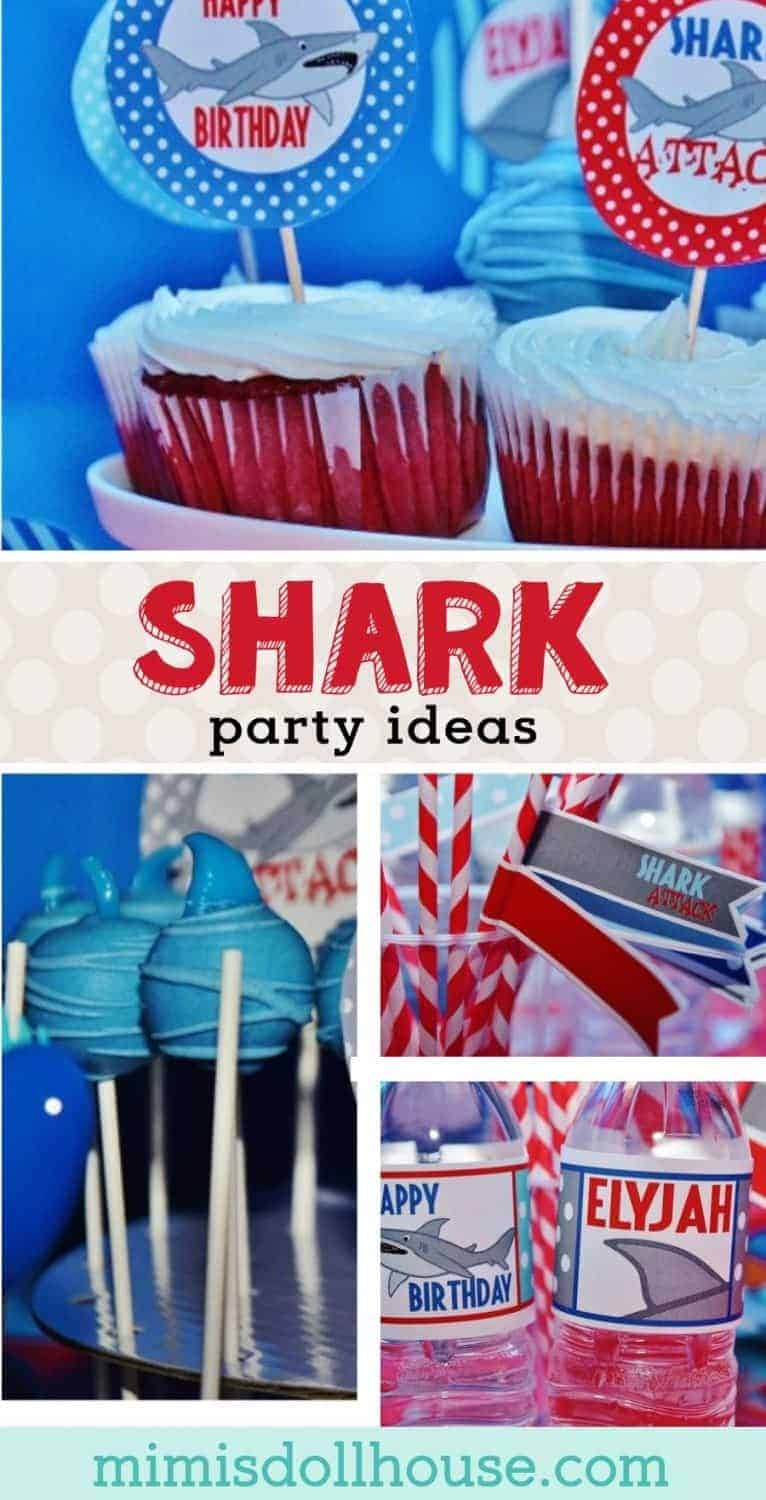 Shark Party: Elyjah's Shark Attack.  Let's take a bite out of this birthday party with a shark party theme!!  Check out this fun shark themed party.