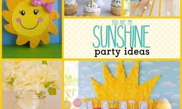 Beautiful + Bright Sunshine Party Ideas