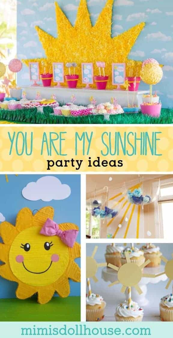 Celebrate your little one with a sweet sunshine party! Looking for ideas for a you are my sunshine birthday party.  This post is full of sunshine party ideas and inspiration. #sunshine #sunshineparty #partyideas #youaremysunshine