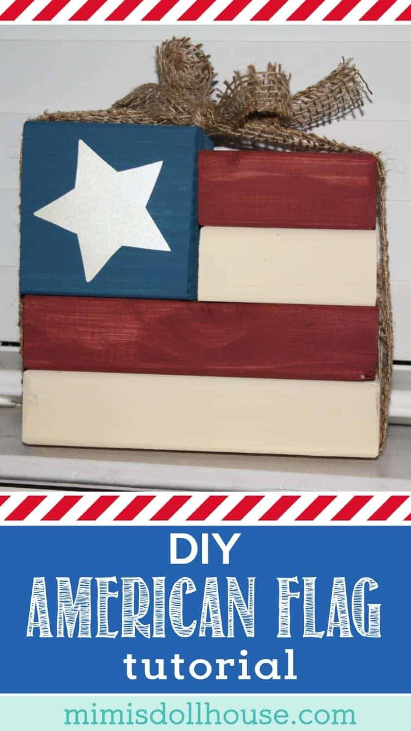 Looking for some DIY Fourth of July decorations for your home or party?  Check out this easy Wooden American Flag tutorial!