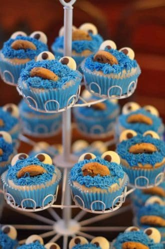 Sesame Street Party: James' Cookie Monster First Birthday-Mimi's Dollhouse