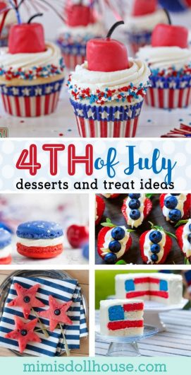 Looking for some easy and delicious Fourth of July desserts? How about some 4th of July food ideas? This post is full of easy to make, adorable treats to please the whole family for July 4th.