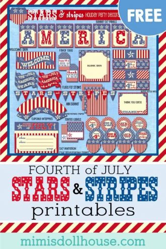 Throwing a Fourth of July party? Here are some fun and patriotic free printables for July 4th!