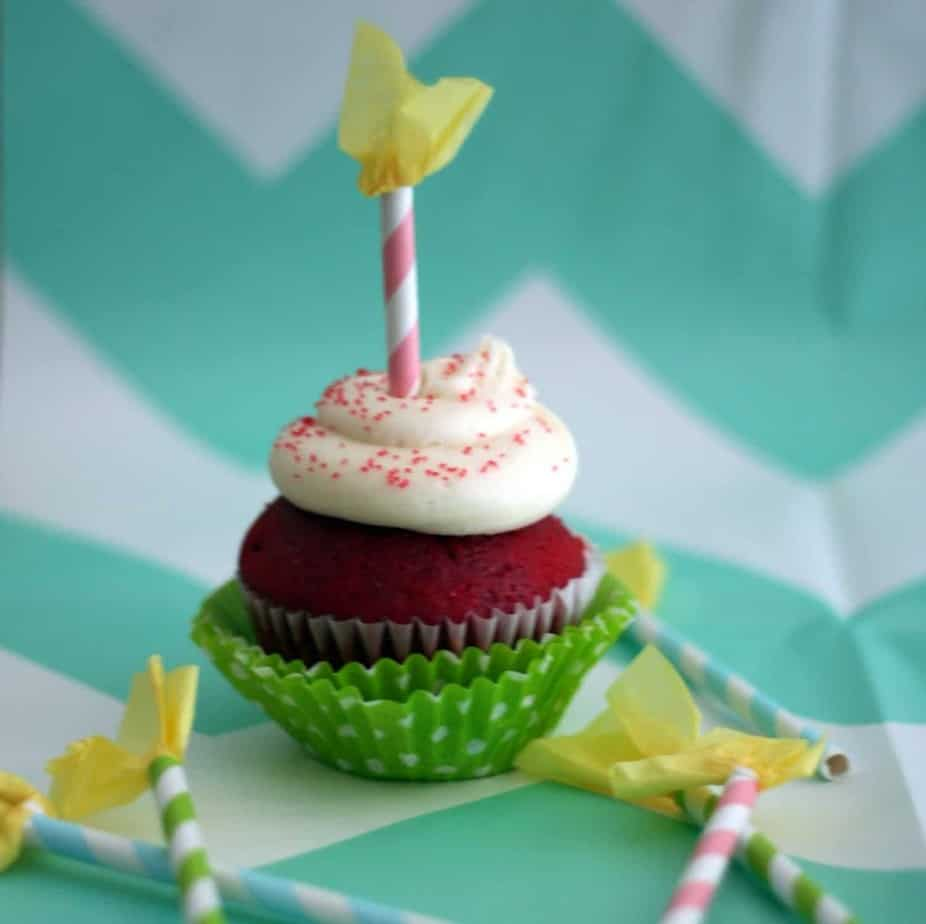 Paper Straw Candle Cupcake Toppers Tutorial