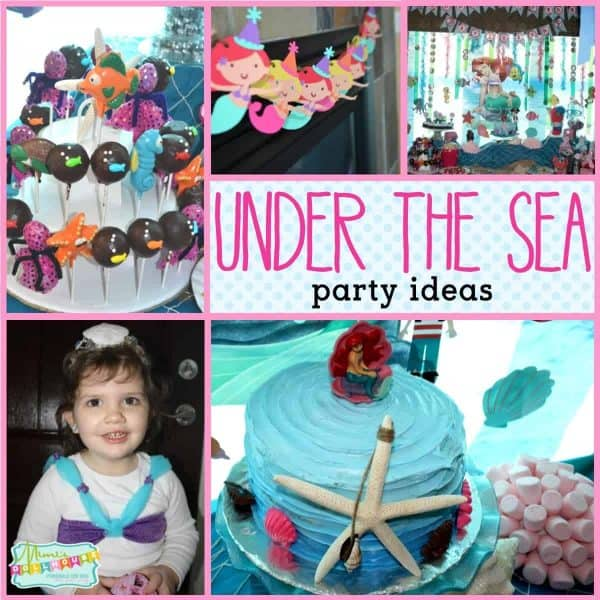 Under the Sea Party: Girly Under the Sea Party Decorations.  Mermaids and seaweed and bubbles galore. Looking for fun ideas for under the sea party decorations?  This under the sea party is full of fun ideas, food and activities for under the sea!  Looking for more ocean party ideas, mermaid party ideas and under the sea party ideas?