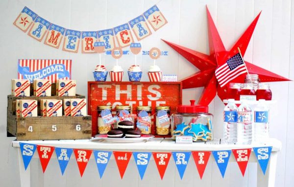 Looking for some fourth of July or memorial day inspiration? This vintage patriotic party has tons of July 4th ideas, food and more!