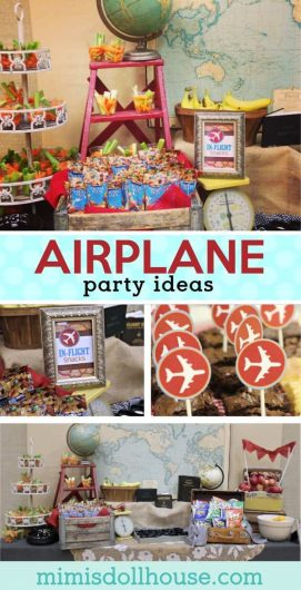 Fun ideas for throwing an airplane party