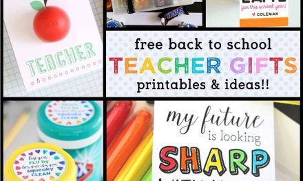Back to School: Best Teacher Gift Ideas with FREE Printables