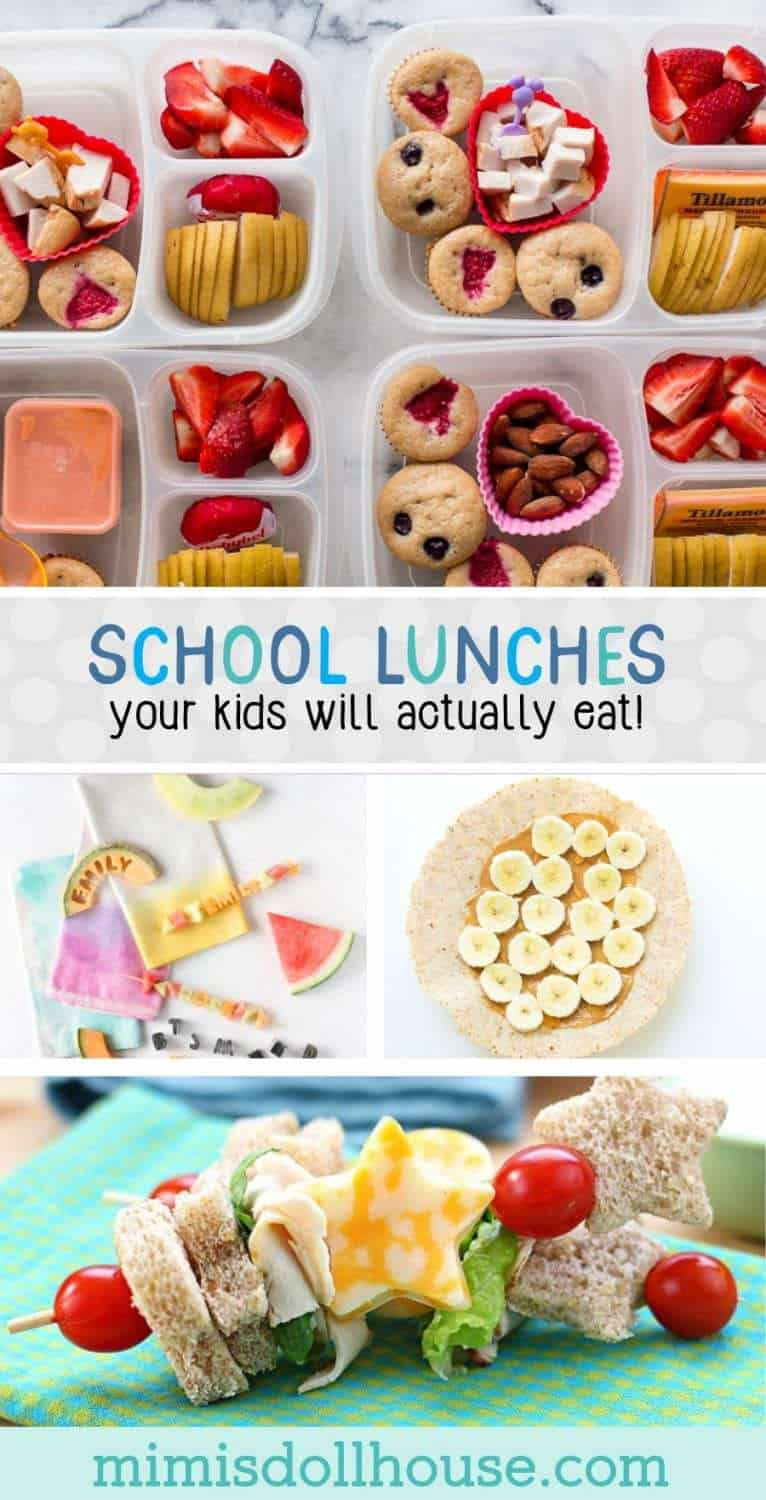 Back to School: School Lunches Your Kids Will Actually Eat. Need some quick and easy back to school lunches for your kids? Do you have a picky eater or need some non sandwich options?  We have rounded up the best lunch ideas to share today! Be sure to check out all our lunch box ideas!  Also spend some time with our back to school hacks and back to school teacher gifts.