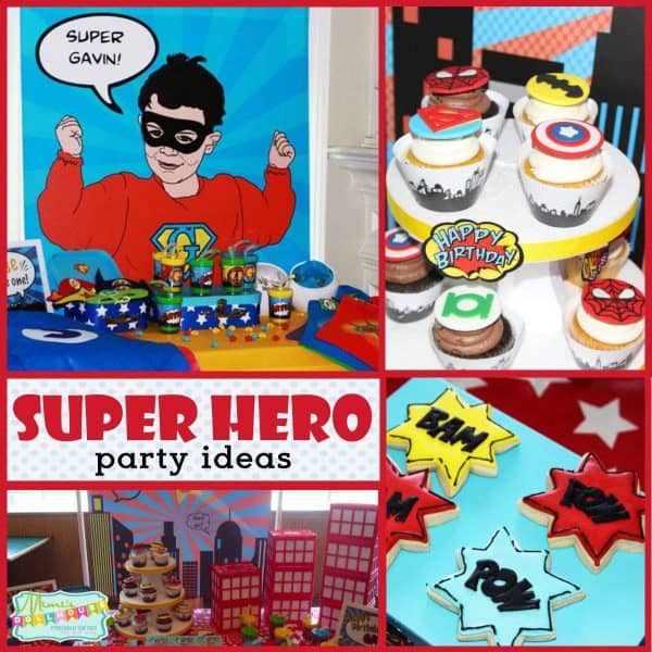Looking for super ideas for a Super hero party? This awesom party has fun superhero party ideas, treats and more! #birthdayparty #superhero