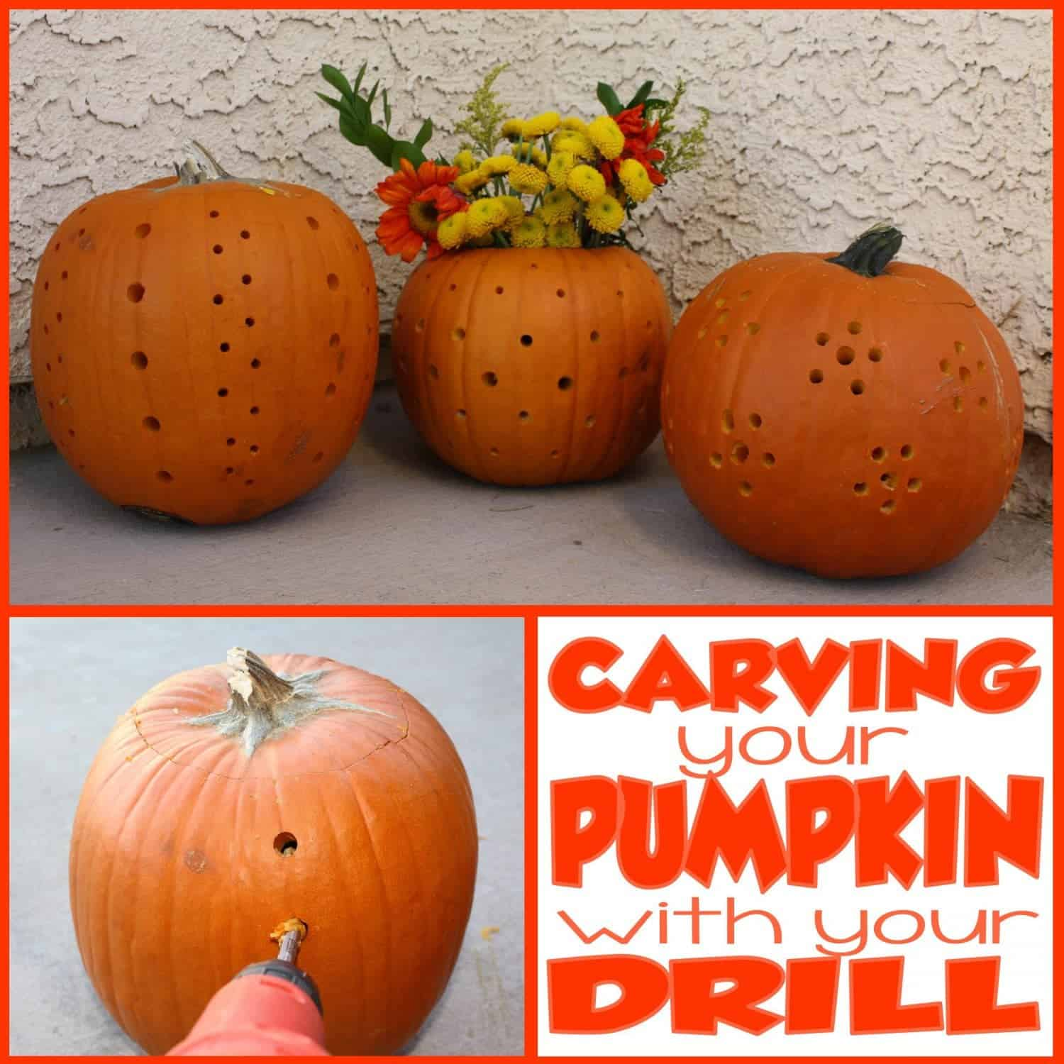 Halloween Pumpkin Carving: Drill Meet Pumpkin, Pumpkin, Drill!