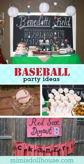 Looking for ideas for throwing a Baseball themed party? this baseball birthday party is full of fun and easy to DIY baseball party ideas! #baseballparty #birthday #partyideas