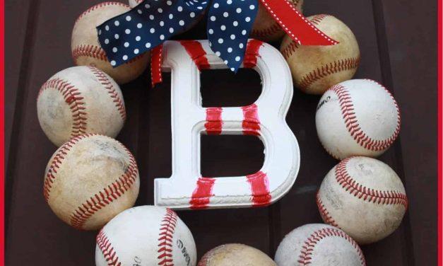 Baseball Party: Baseball Wreath Tutorial