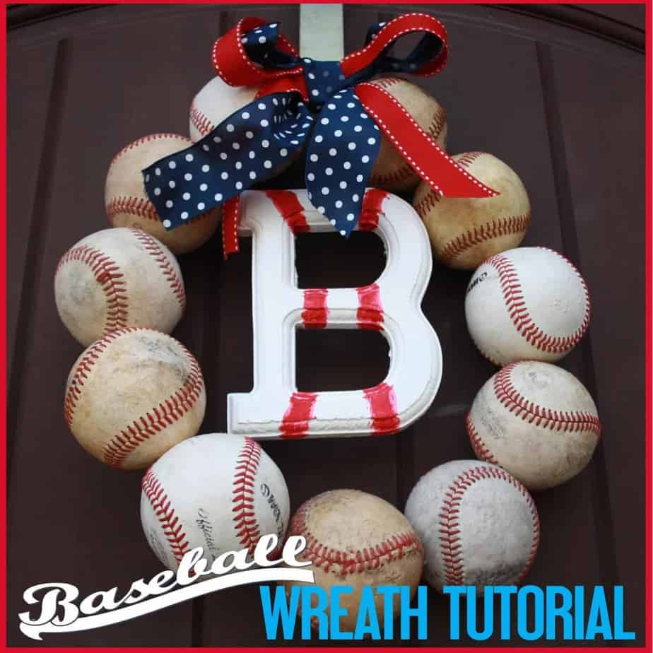Baseball Party: Baseball Wreath Tutorial