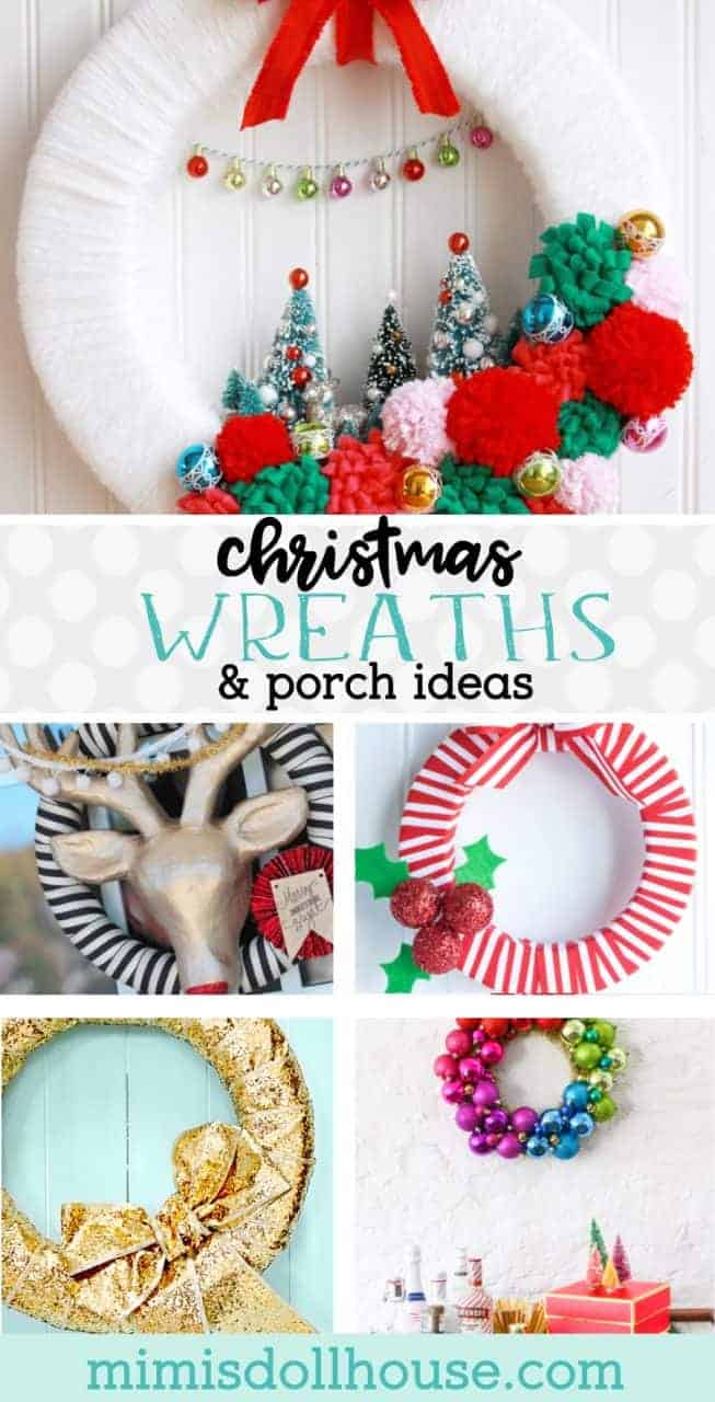 Christmas Wreath: DIY Christmas Wreathes and Holiday Door Hangers. Starting to think about Christmas Decorations? Start your Christmas off right with a fun, funky or beautiful Christmas Wreath. #christmas #decor #homedecor #holiday #holidays #winter #parties #diy #crafts #diyandcrafts #christmasdecor