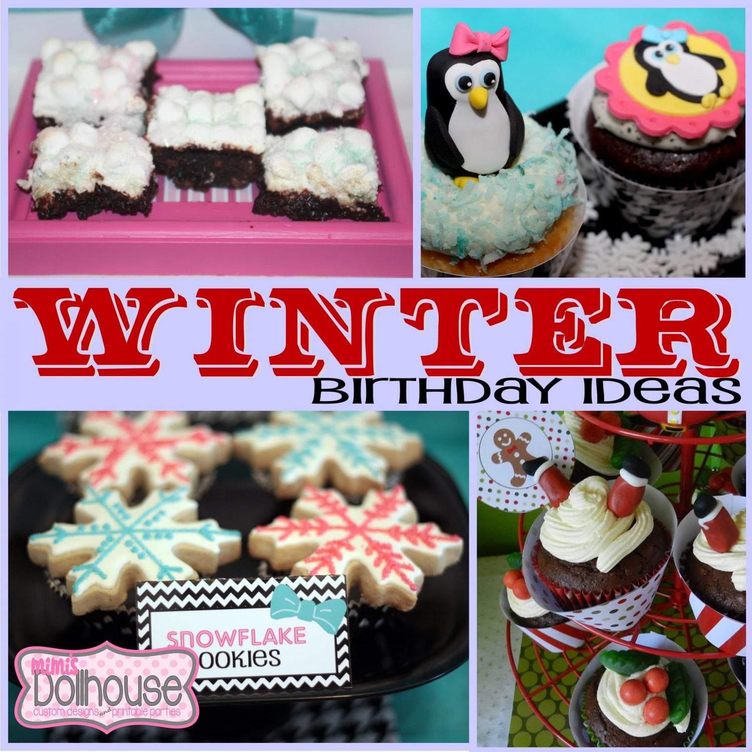 Winter Birthday: DIY Winter Birthday Themes Guest Post