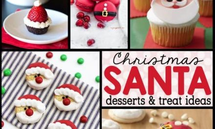 Easy Santa Desserts + Christmas Food Ideas