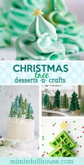 Christmas: Christmas Tree Desserts and Christmas Tree Crafts. Nothing says Merry Christmas like delicious Christmas tree desserts and crafts!! Brighten up your home or party with some fun and funky Christmas Trees. #christmas #parties #baking #desserts #holiday #winter #christmascrafts #crafts #diy #cookies #cupcakes