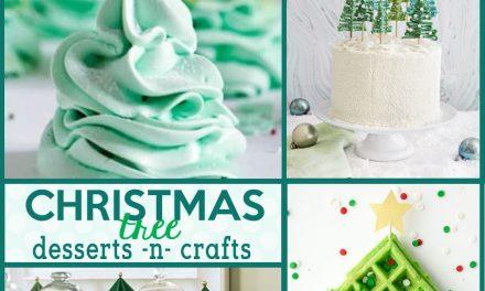 Christmas: Christmas Tree Desserts and Christmas Tree Crafts