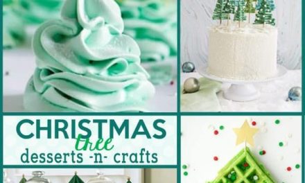 Christmas: Christmas Tree Desserts and Christmas Tree Crafts