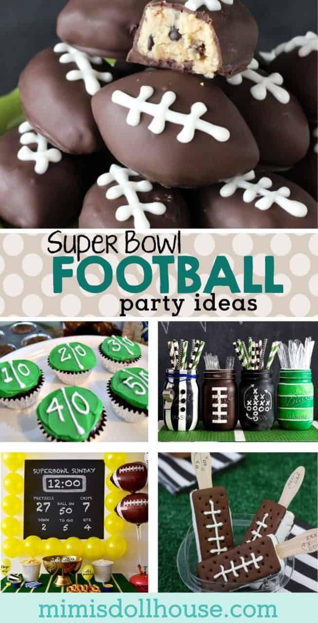 Super Bowl Party: Football Party Ideas.  Whether you are throwing a Super Bowl Party, a tailgate party or a football themed birthday party, we have some awesome football party ideas for you!  Get ready for the big game with some awesome football party treats and football party decorations.