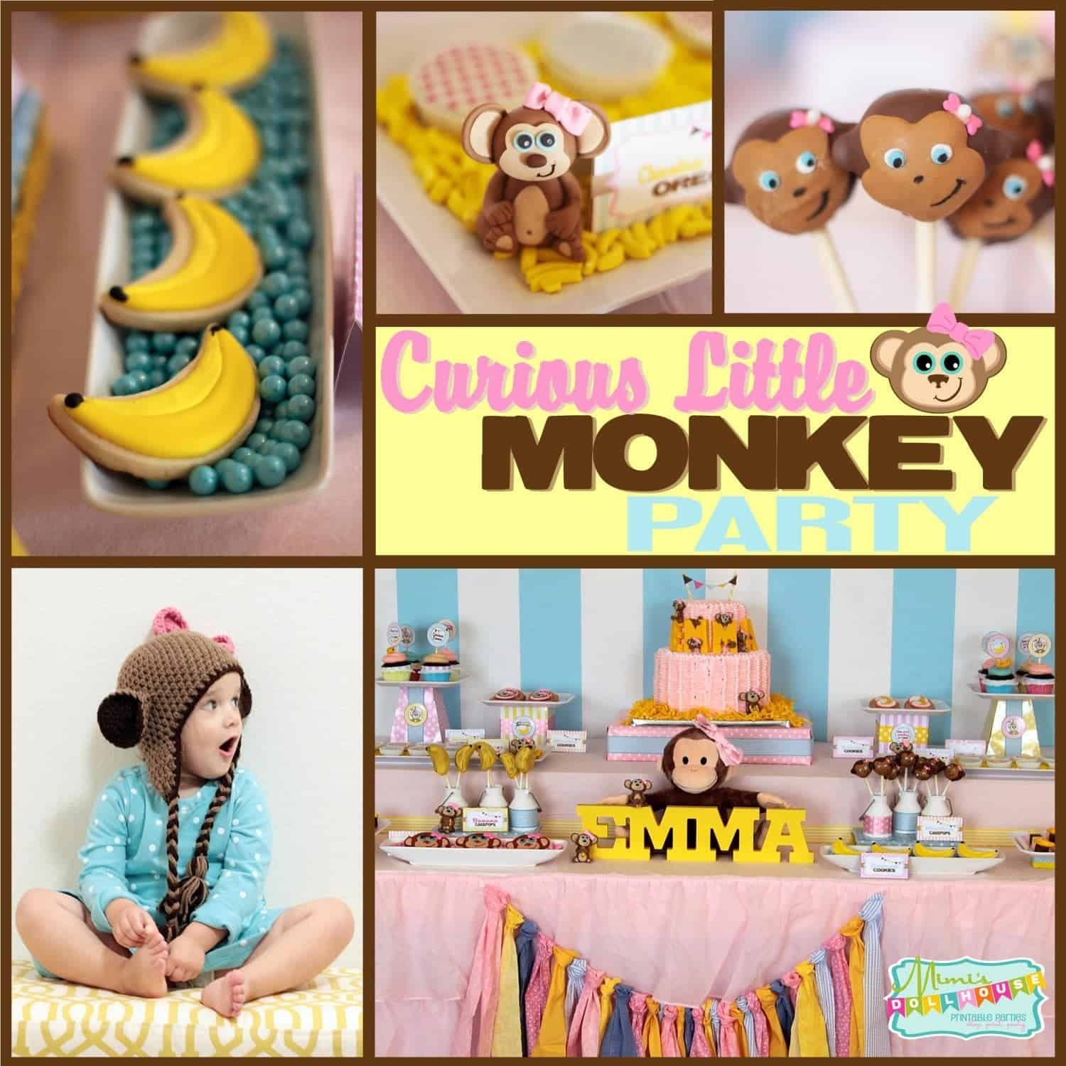 Monkey Party: Curious Emma is Turning Three!