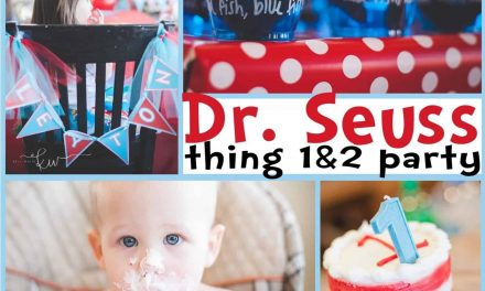 Dr. Seuss Party: Riot's Thing 1 and Leyton's Thing 2