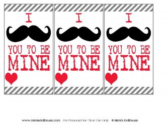 "Valentine's Day: FREE Mustache Valentines.  Happy Valentine's Day!  I mustache you to be mine with some FREE mustache valentines.  If you are looking for a great, inexpensive way to say ""Happy Valentine's Day"", these valentines are for you!!  #printables #freeprintables #holiday #valentines #valentinesday #crafts #parties"