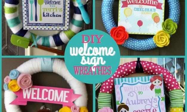 DIY Decor: Welcome Sign Wreaths