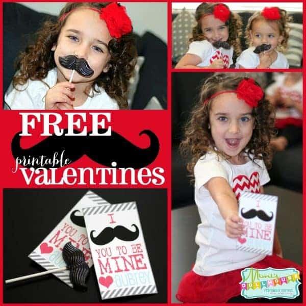 Valentine's Day: Mustache Printables