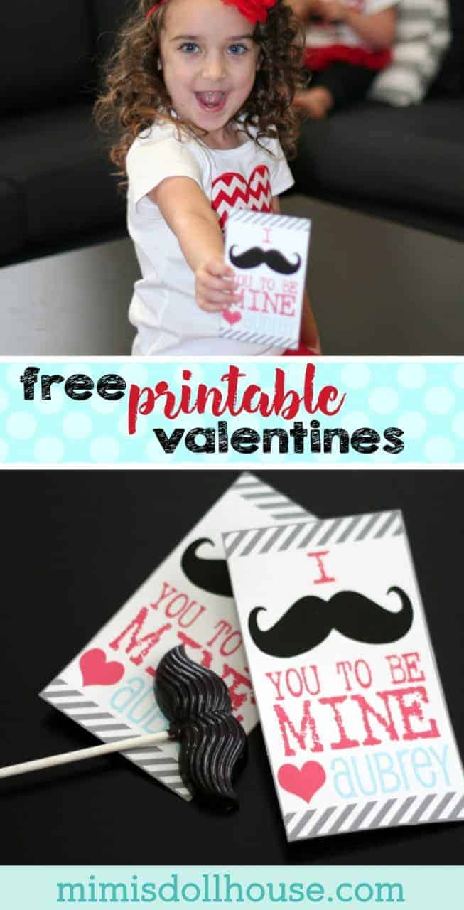 Valentine's Day: FREE Mustache Valentines. Happy Valentine's Day! I mustache you to be mine with some FREE mustache valentines. If you are looking for a great, inexpensive way to say