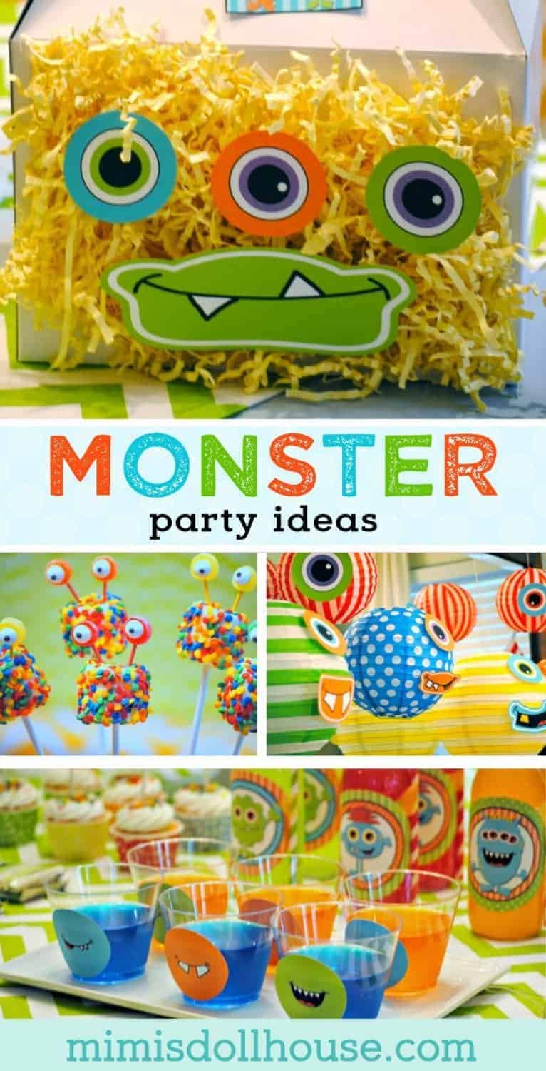 Celebrating a birthday party?  Check out these awesome monster party ideas for your birthday planning.  Monster party treats and monster decorations. #monster #monsterparty #partyideas #parties #party #diy