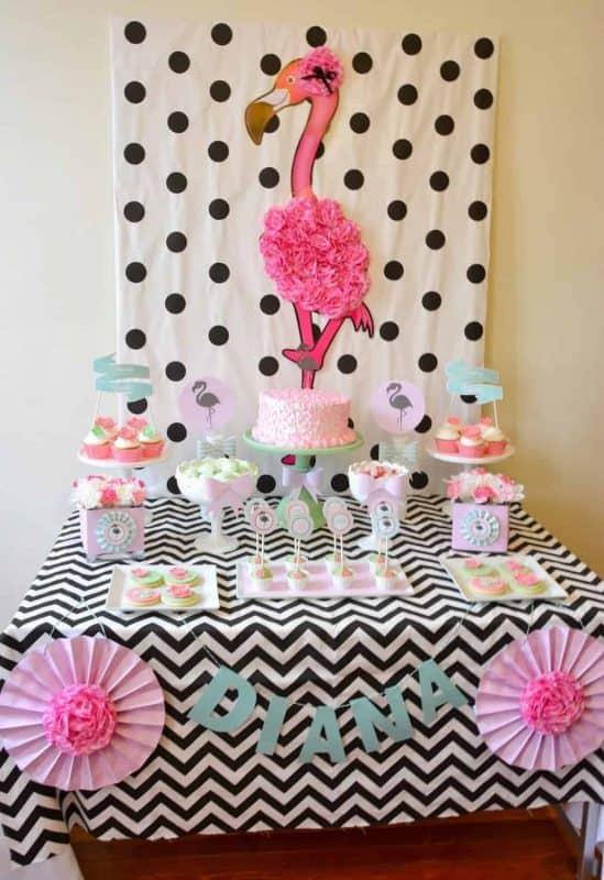 Flamingo Party: Chic Chevron and Pastel Flamingo Party-Mimi's Dollhouse