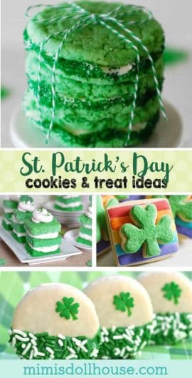 St. Patrick's Day: Sweet Treats and Festive Cookies. Take a bite of good luck with these adorable St.Patrick's Day treats and yummy goodies.  Be sure to checkout all our St. Patrick's Day Ideas and Inspiration. #stpatricksday #rainbow #holiday #baking #diy #kids #party #partyideas #parties #crafts