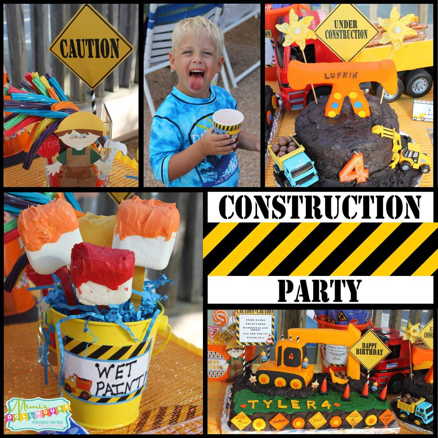 Construction Party: Can you dig it? Tyler is 4!