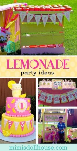 Lemonade Party: Tristyn's Lemonade Stand. Today I'm sharing a cute Lemonade Party with a fun custom Lemonade Stand. Be sure to check out all of our Lemonade Party Ideas.