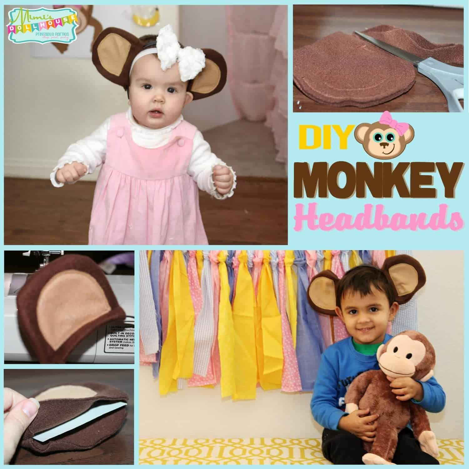 Monkey Party: DIY Monkey Headband Tutorial