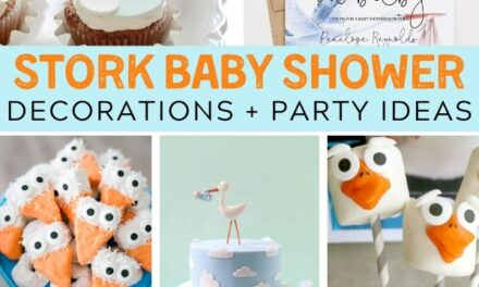 Clever + Classic Stork Baby Shower Ideas