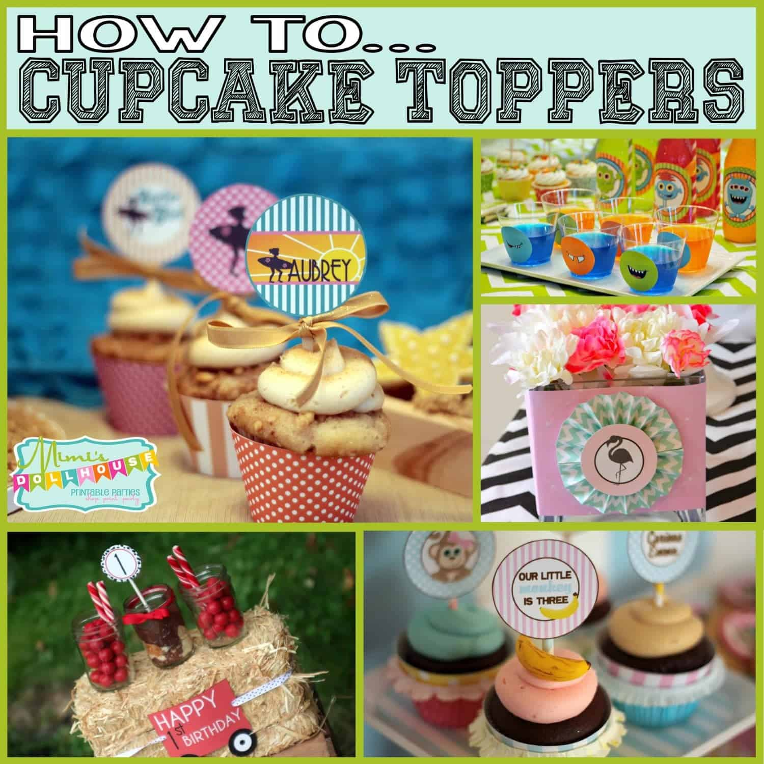 How to: 2″ Circles/ Cupcake Toppers