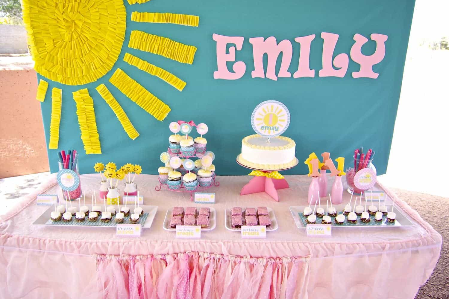 1st Birthday Girl Sunshine Complete Party Package